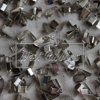 Концевик 0.6 см , серебро (мини) 10 шт