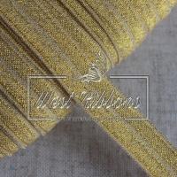 Касая бейка стрейчевая 1.5 см, золото