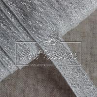 Касая бейка стрейчевая 1.5 см, серебро