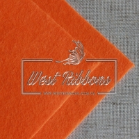 Фетр  2 мм, оранжевый