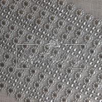 Шина декоративная A-703 серебристый цветок