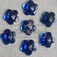 """С-ка  """"Цветок огранка""""   16 мм , синяя"""