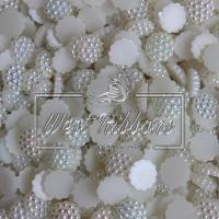 С-ка пластик -пупер Перламутр 1 см, молочный