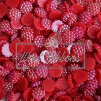 С-ка пластик -пупер Перламутр 1 см, красный