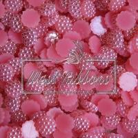 С-ка пластик -пупер Перламутр 1 см,яр.розовый