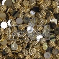 С-ка пластик -пупер 1 см, золото