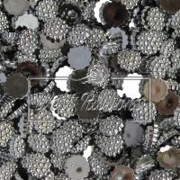 С-ка пластик -пупер 1 см, серебро