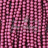 Жемчуг на леске 6 мм СТЕКЛО, бордовый