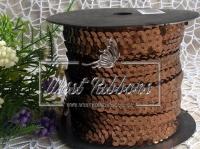 Пайетки на нитке , коричневые