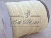 Лента велюр -мягкая 1 см, молочная