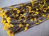 Веточка с тычинками 40 см, желтая- 10 шт.