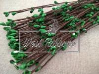 Веточка с тычинками 40 см , зелёная- 10 шт.
