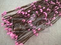 Веточка с тычинками 40 см , розовая- 10 шт.