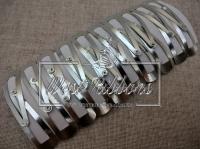 Заколка тик-так, серебро  (40 шт.)
