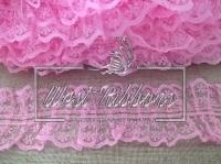 Кружево пришивное, розовое