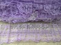 Кружево пришивное,  фиолетовое