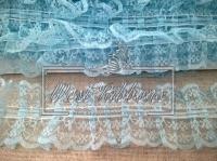 Кружево пришивное, голубое