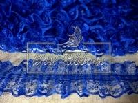 Кружево пришивное, синее