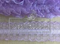 Кружево на резинке светло-фиолетовое