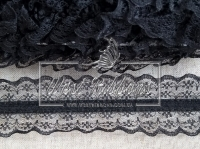 Кружево на резинке черное