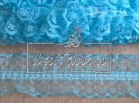 Кружево на резинке голубое