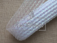 Регилин 4.5 см, ГАФРОВАНЫЙ бело-перламутролвый