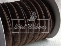 Лента велюр -мягкая 1 см, коричневая