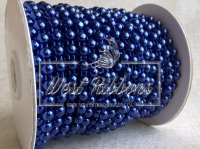 Полубусины на нитке 6 мм темно-синие