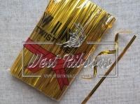 Проволочные завязки 12 см Twist tie, золото (длинные)