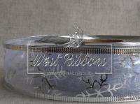 Лента-органза новогодняя 3.8см, серебро.