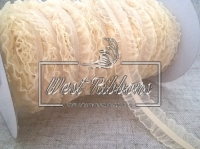 Резинка Рюша 2 см, молочная-МИНИ