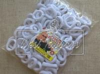 Резинка Калуш белый нейлон- 100 шт.