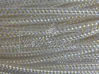 Регилиновая трубка , белая  ( с золотисто-серебристым) NEW