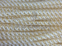 Регилиновая трубка , белая (с золотисто  белым) NEW