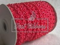 Цветок-бусинка на нитке VX18, красная
