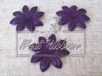 Заготовка для цветка атласная, темно-фиолетовая