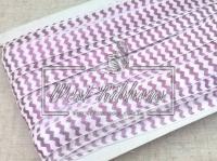 Бейка 1.5 см , шеврон фиолетовый на белом VIP