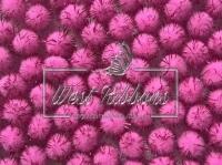 Помпоны 1.5 см. с  люрексом, розовые (10 шт.)