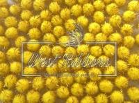 Помпоны с люрексом, желтые  (10 шт.)