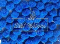 Помпоны 2 см, синие