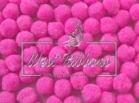 Помпоны 2 см, яр.розовые
