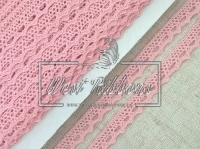 """Кружево """"Вязаное""""  1.1 см , розовое"""