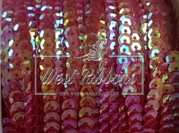 Пайетки на нитке ,красные (перламутр) свадебная