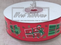 Репс 2.5 см , подарочки на красном