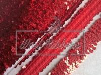 Повязка-пайетка 3 см, красная-(перламутр)