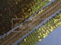 Повязка-пайетка 3 см, золото-(перламутр)