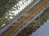 Повязка-пайетка 3 см, золото