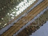 Повязка-пайетка 3.8 см, золото