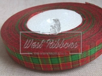 Шотландка New Year  1.8 см, зелёный квадрат