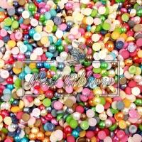 Полубусы матовые 6 мм цветные